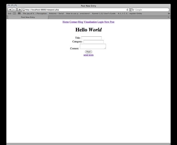 Test Web Interface